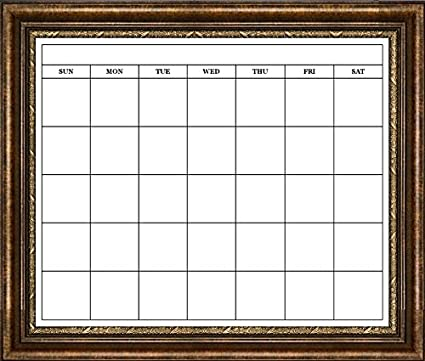 Amazon Com Framed Dry Erase Monthly Calendar 20 X 24 With