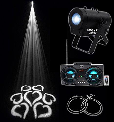 Chauvet DJ Gobo Zoom USB Custom Gobo Projector Light W/10 Gobos + Free Speaker ! by Chauvet