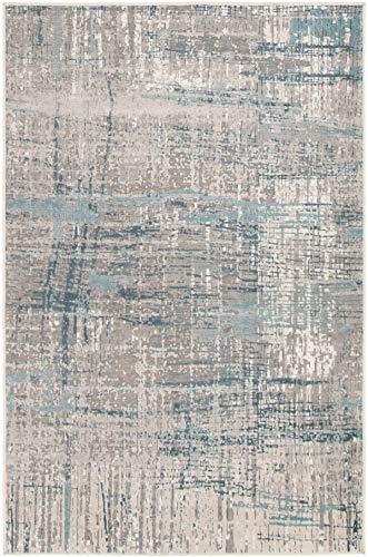 "eCarpetGallery 298346 Lucca Area Rug, 5'3"" x 7'3"", Grey from eCarpet Gallery"