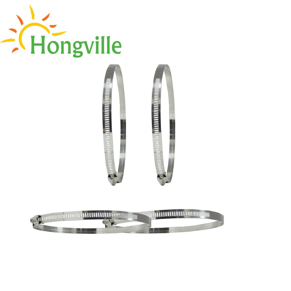 Hongville 6 inch 4 PCS Adjustable Stainless Steel Worm Gear Hose Clamps