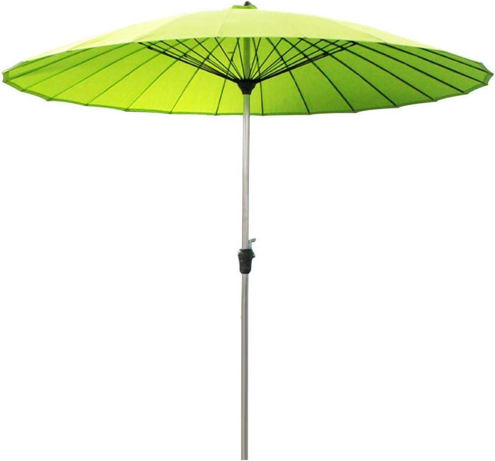 ZXYY Sombrilla de jardín al Aire Libre | 2.7M |Redondo/Inclinable/con manivela/Poste de sombrilla de 38 mm para terraza/Patio/balcón/Mesa de Centro (12 Colores) - sin Base