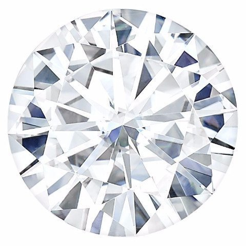 Charles & Colvard 8MM Moissanite Forever One Round Brilliant Cut Loose by Charles & Colvard