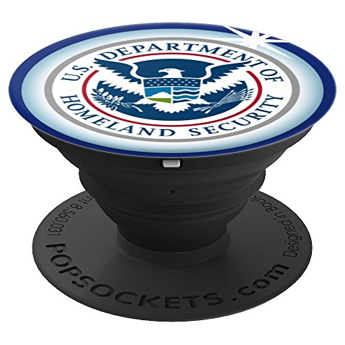 Department Of Homeland Security DHS Logo PopSocket Grip - PopSockets Grip and Stand for Phones and Tablets by PowKazam