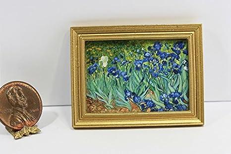 Dollhouse Miniature Art Famous Van Gogh Still Life Painting