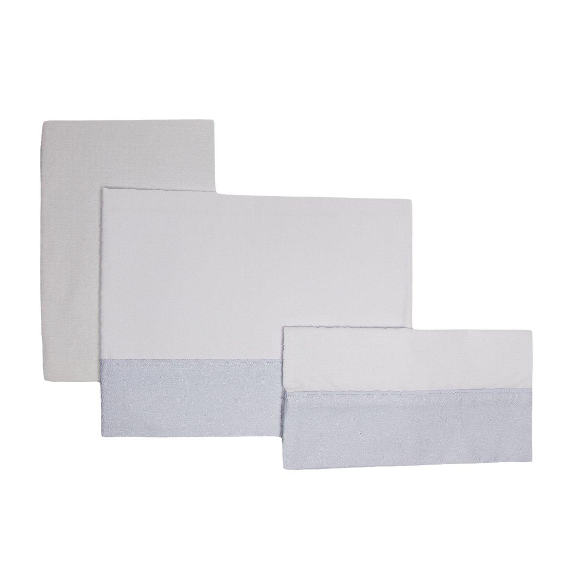 Cambrass Keito - Sabana capazo, 3 piezas, 80 x 120 cm, color celeste 35927