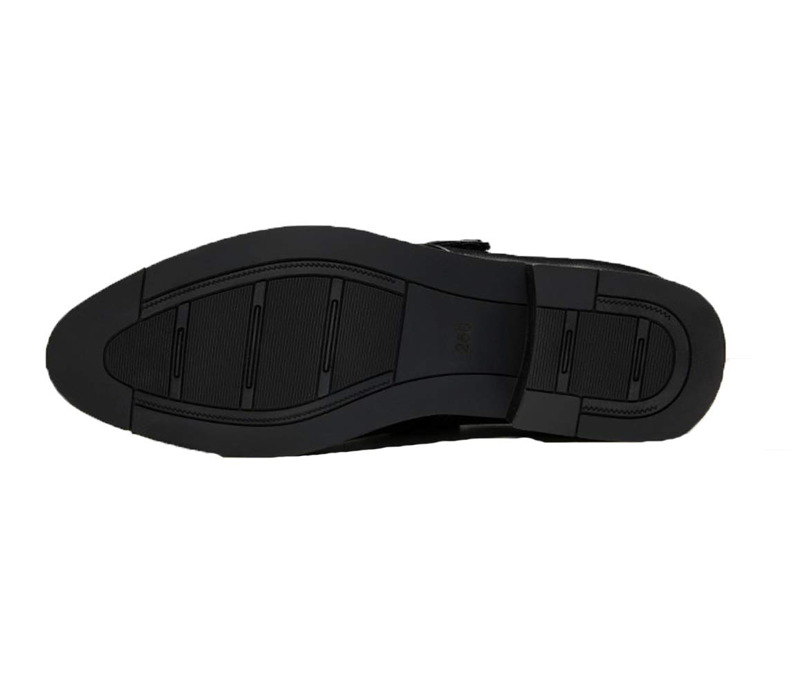 Ywqwdae Zapatillas clásicas clásicas clásicas para Hombre de Monje con Hebilla Deslizamiento en Zapatos Zapatos cómodos de Suela Blanda Antideslizante (Color : Negro, tamaño : EU 44) 0f28f0