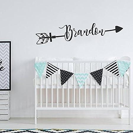 fa59c55416b71 Arrow Name Wall Decal Boho Nursery Decor Custom Name with Arrow Baby ...