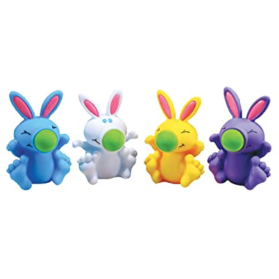 Silly Bunny Popper Toy, Foam Ball Shooter – Assorted Colors: Toys & Games