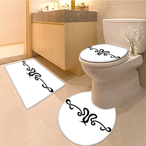 Miki Da Lid Toilet Cover tattoo tribal vector designs tribal tattoos art tribal tattoo vector sketch Personalized (60x80 Da Mat)