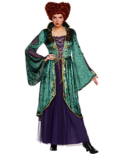 Hocus Pocus Cosplay (Spirit Halloween Adult Winifred Sanderson Hocus Pocus Costume | Officially Licensed Green,)