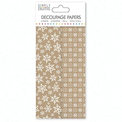 Golden Stags First Edition Deco Mache Decoupage Papers Christmas Decopatch