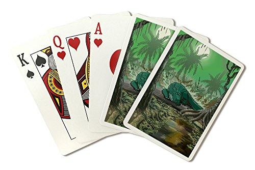 Alligator in Swamp (Playing Card Deck - 52 Card Poker Size with Jokers)