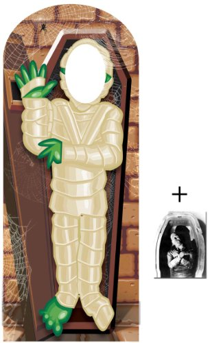 Fan Pack - Zombie Mummy Crypt Halloween Lifesize Cardboard Stand-in Cutout - Includes 8x10 (20x25cm) Star Photo]()