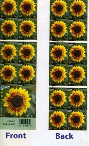 USPS Sunflower Booklet of Twenty 42 Cent Stamps Scott 4347a