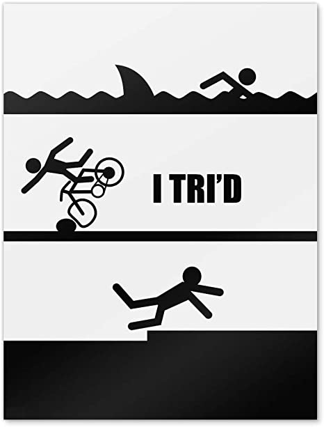 Swim Ride Run Various Colours Triathlon//Triathlete Wall Art Decals//Stickers