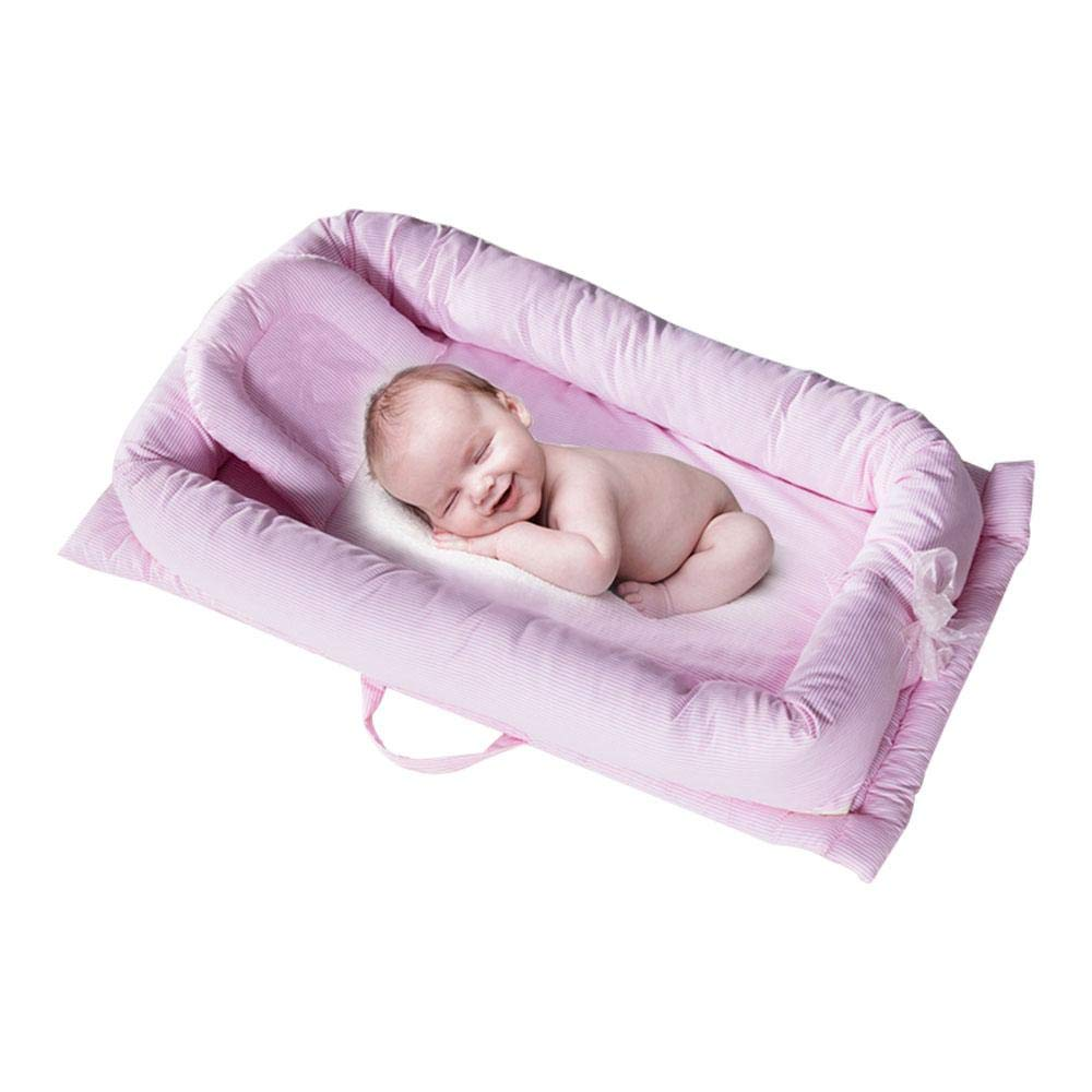 AOLVO Snuggle Nest Baby Lounger, 100% Cotton Nest Newborn Portable Crib, Breathable and Hypoallergenic Baby Bed Infant Sleeper Newborn Lounger for Bedroom/Travel by Aolvo (Image #8)