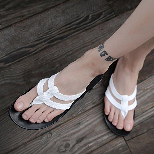 pies Sandalias para verano y Sandalias para Sandalias para de AIHUWAI White pantuflas Sandalias antideslizantes hombre hombres Chanclas vPp4nqz