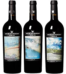 Save Me San Francisco Rockin\' with Reds Mixed Pack, 3 x 750mL Wine