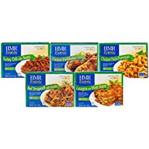 HMR Top 5 Entree Bundle: Chicken Pasta Parmesan, Beef Stroganoff w/Noodles, Chicken Enchiladas w/Tomatillo Sauce, Lasagna w/Meat Sauce, Turkey Chili w/Beans, 8 oz. servings,5 Count, Packaging May Vary