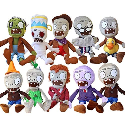 RAFGL 10Pcs/Lot 30Cm Plants Vs Zombies Hats Pirate Duck Zombies Plush Stuffed Toys PVZ Zombies Plush Soft Toy Doll Gifts for Children New Must Haves Gift Ideas The Favourite Anime by RAFGL