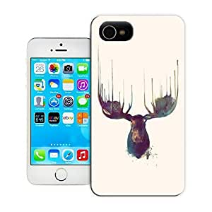 TYH - Unique Phone Case Animal painting patterns Moose Hard Cover for iPhone 5/5s cases-buythecase ending phone case