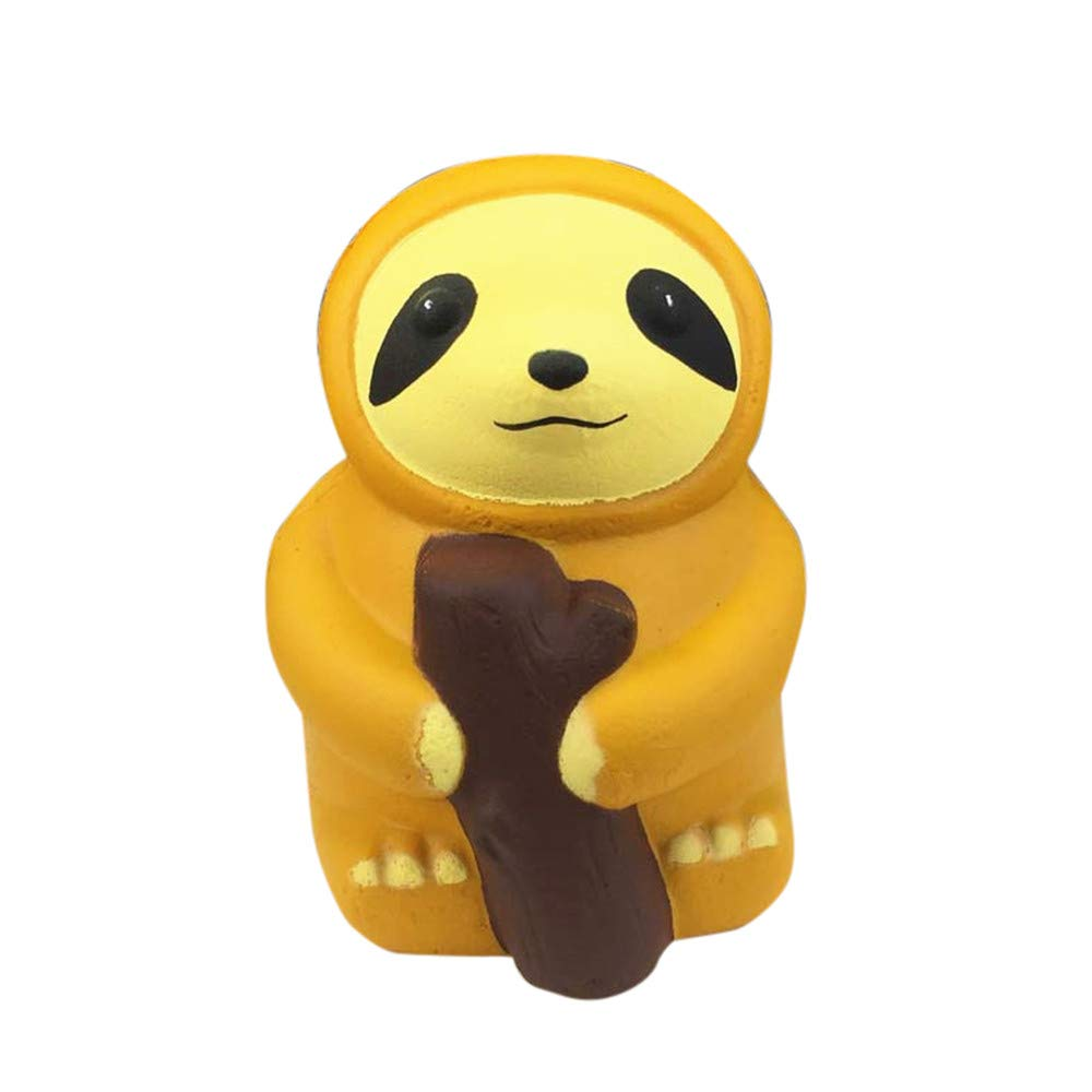 Livoty Squishies Cute Sloth Toy Decompression Slow Rising Squeeze Stress Relieve Toys