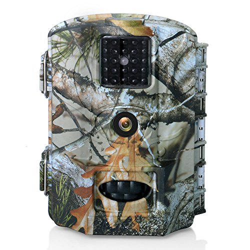Trail Game Camera Olymbros 16MP 1080P Scouting Hunting Camera Waterproof Motion Activated 65ft Long Range No Glow Infrared Night Vision for Wildlife Surveillance Hunting Observation and Security
