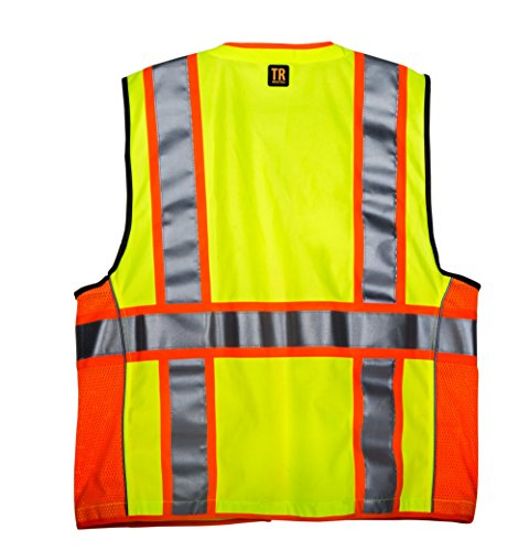 TR Industrial TR55-3M-M Class 2 3M Safety Vest with Pockets and Zipper, Medium Photo #3