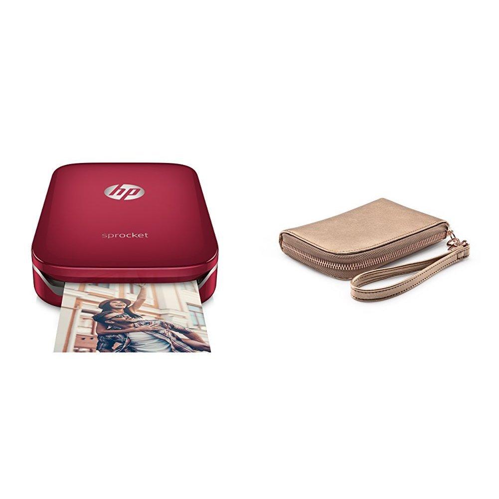 4 Pacchi di HP Zink Carta Fotografica Autoadesiva per Sprocket 20 Fogli HP Sprocket Rosso Stampante Fotografica Istantanea