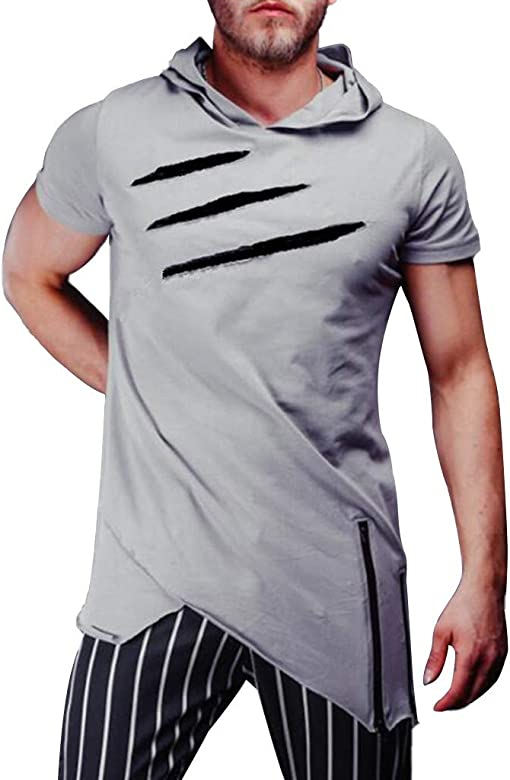 1073e2a7e4 ZODOF Camisetas Hombre Verano,Ropa Deportivas Hombre,Sudaderas con Capucha  Casual Hombre,Camiseta
