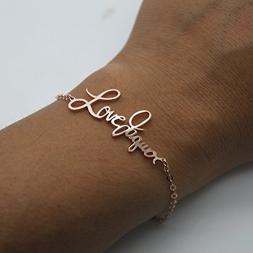 Joelle Jewelry Design Handwriting Bracelet Personalized Memorial Signature Bracelet Custom Signature Bracelet - 925 Sterling Silver