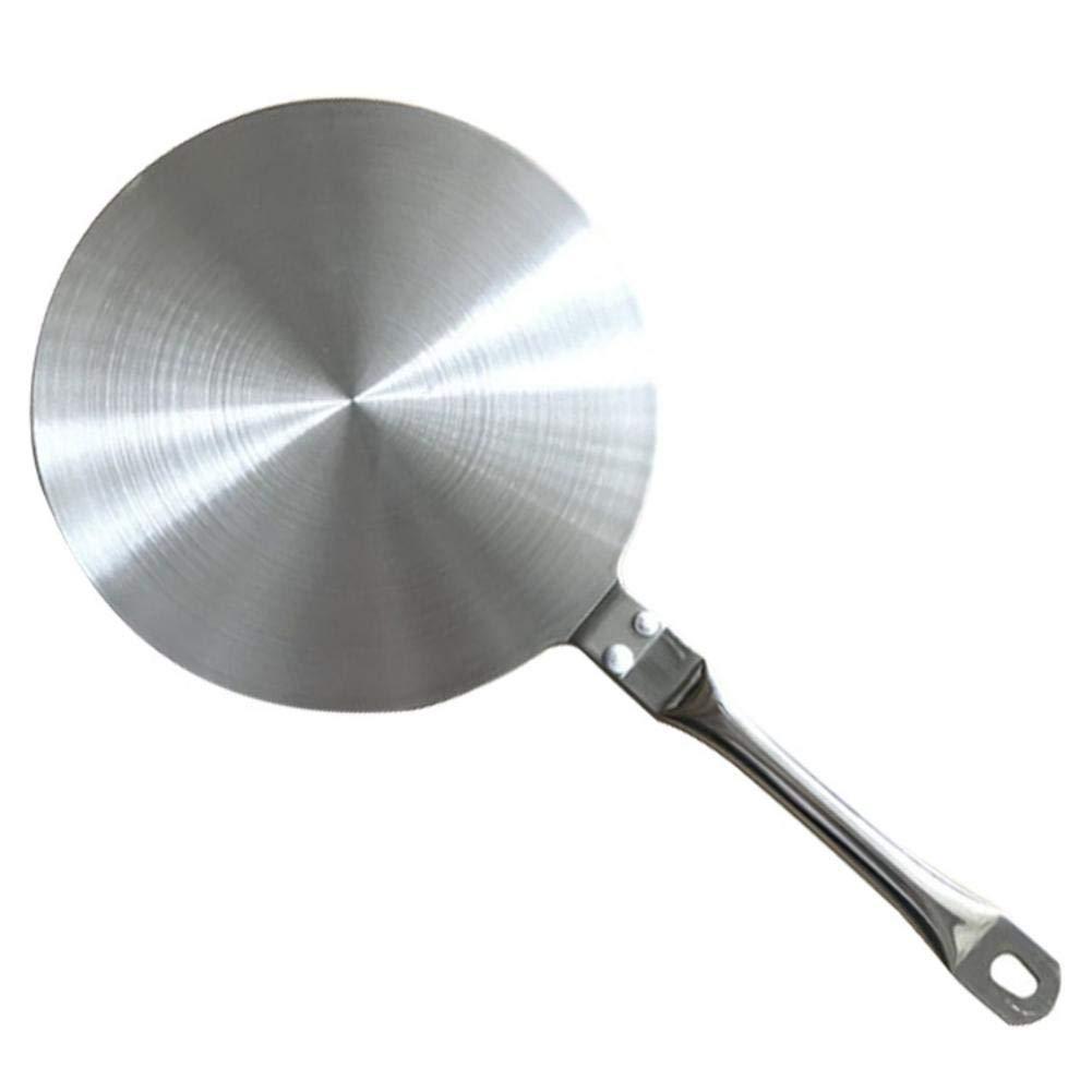 Elektro- Induktions-Kochfeld-Platte f/ür Gas- Edelstahl-Hitze-Diffusor-Platten-K/üchenger/ät mit hitzebest/ändigem Griff Induktionsherd