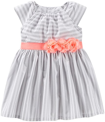Carter's Baby Girls' Striped Dress (Baby) - White - 3 Months