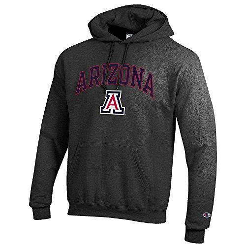 (Elite Fan Shop Arizona Wildcats Hooded Sweatshirt Charcoal -)