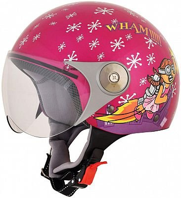 AFX 01070007 FX33-Y Rocket Girl Youth Helmet, Distinct Name: Rocket Girl, Gender: Girls, Size Segment: Youth, Primary Color: Pink, Helmet Category: Street, Helmet Type: Open-face Helmets, Size: Sm (Open Face Youth Helmet)