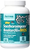 Jarrow Formulas Saccharomyces Boulardii + MOS, 5 Billion Cells Per Capsule, Promotes Intestinal and Digestive Health, Value Size, 180 Veggie Capsules For Sale