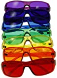 [3 Sizes Available] Kids Style Color Therapy Glasses - Set of 7 Colors, Sunglasses