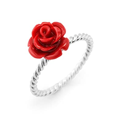 american coral west com rose page sterling red product qvc carved ring rings