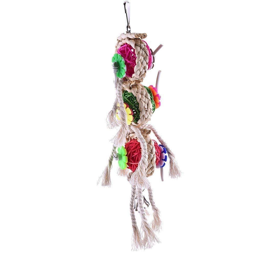 Jaula de Juguete Cono de Amor de p/ájaros Stockton Juguete para mordedor de p/ájaros para Loro Gato de Macaw Africano cacat/úas Gris Periquito