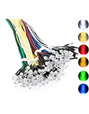 120PCS 6 Color (20PCS X 6 Colors) Ultra Bright 12v Pre Wired LED Diodes Light -White Red Blue Green Yellow Warm White