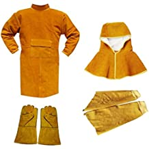MagiDeal Welding Long Coat Protective Clothing Apparel Workwear Kit For Welder