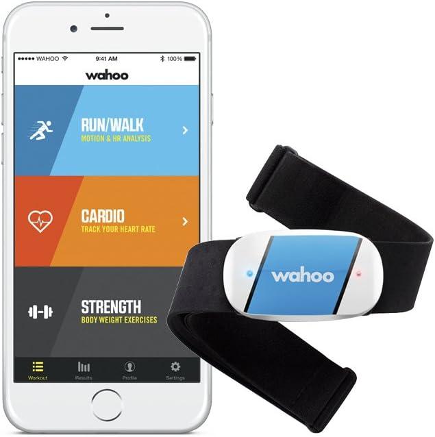 Wahoo Fitness - Monitor de frecuencia cardíaca Wahoo TICKR para iPhone y Android