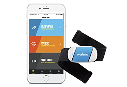 Wahoo Fitness - Monitor de frecuencia cardíaca Wahoo TICKR para iPhone y Android