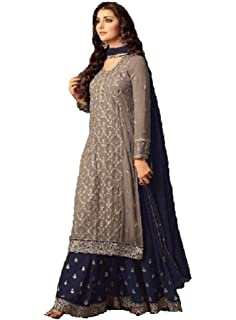 c5464b3bdb Delisa Readymade Eid Special Indian/Pakistani Party Wear Palazzo Style Salwar  Kameez for Women