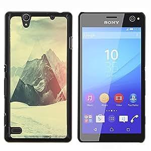 - Geometry Snowy Mountain For Sony Xperia C4 Duro Snap en el tel???¡¯???€????€?????fono celular de la cubierta @ Cat Family