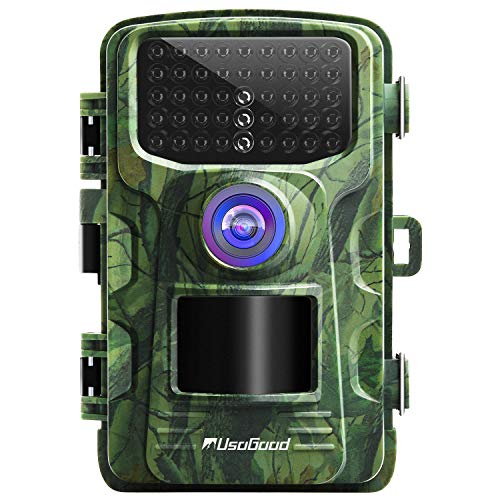usogood Trail Camera 14MP 1080P No Glow Game Hunting Camera with Night Vision Motion Activated IP66...