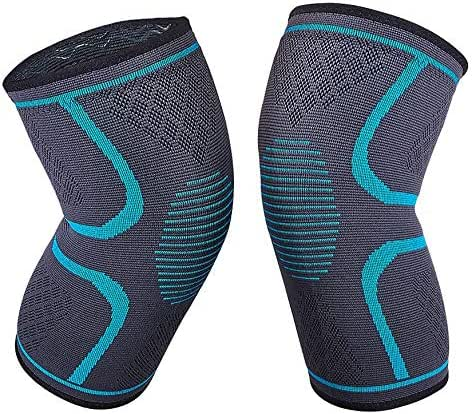Knee Compression Sleeve - 2 Pack Knee Brace Support Men Women for Sports, Crossfit, Running
