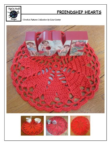 Friendship Hearts - Crochet Pattern #143 for Doily