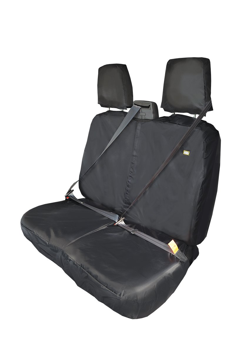Ford TRANSIT Van 2014 Tailored Waterproof Front Black Seat Covers NO TRAY