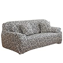 uxcell® Stretch Sofa Slipcover Sofa Cover Chair Cover 3 Seater Protector Couch Covers Featuring Soft Form Fit Slip Resistant 74-90 Inches (Ring)